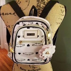 Betsy Johnson logo mini backpack